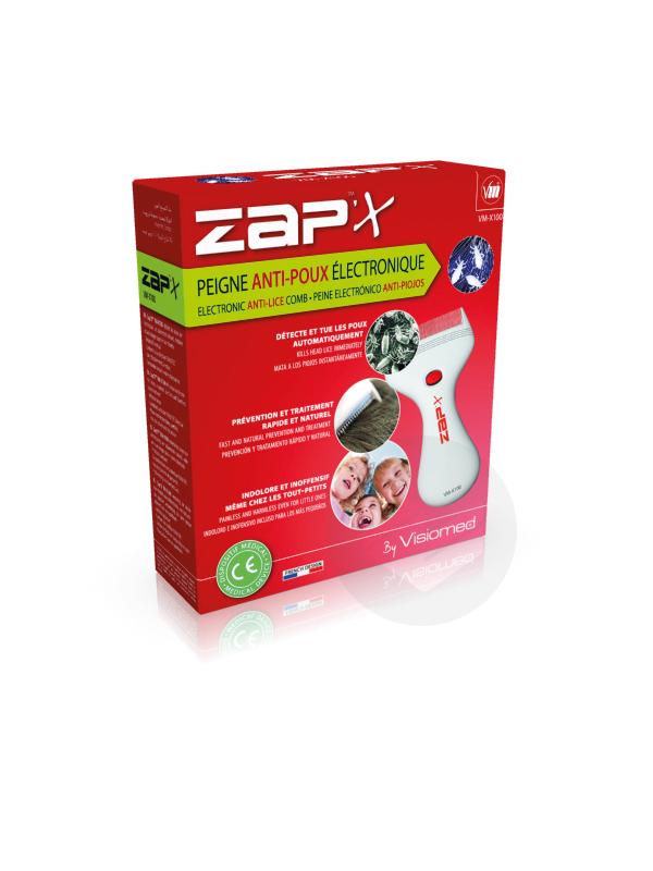 Zap'X Peigne Anti-Poux Électronique
