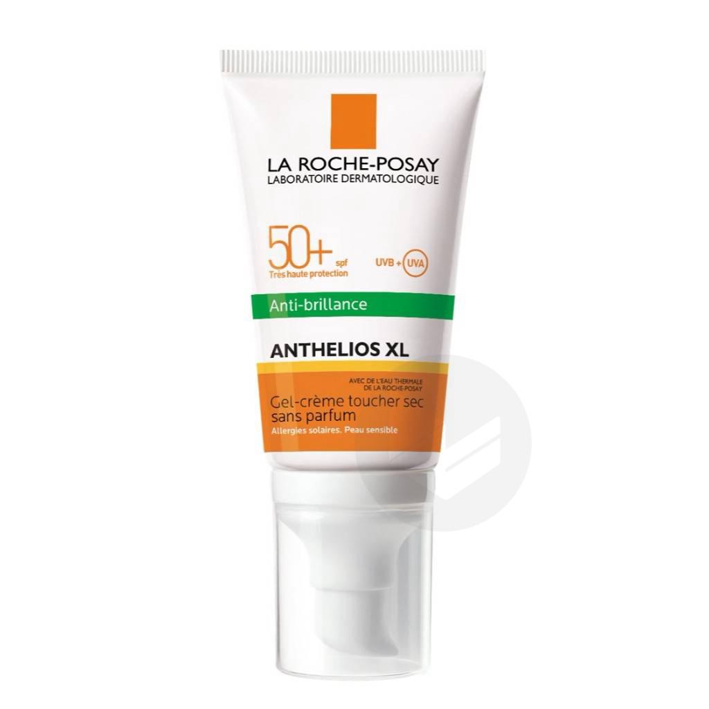 Anthelios Crème Solaire en Gel-Crème Anti-Brillance Visage SPF50+ Sans Parfum 50ml