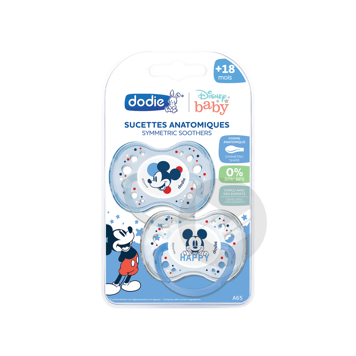 Sucette Anatomique 18 Mois Duo Mickey A 65