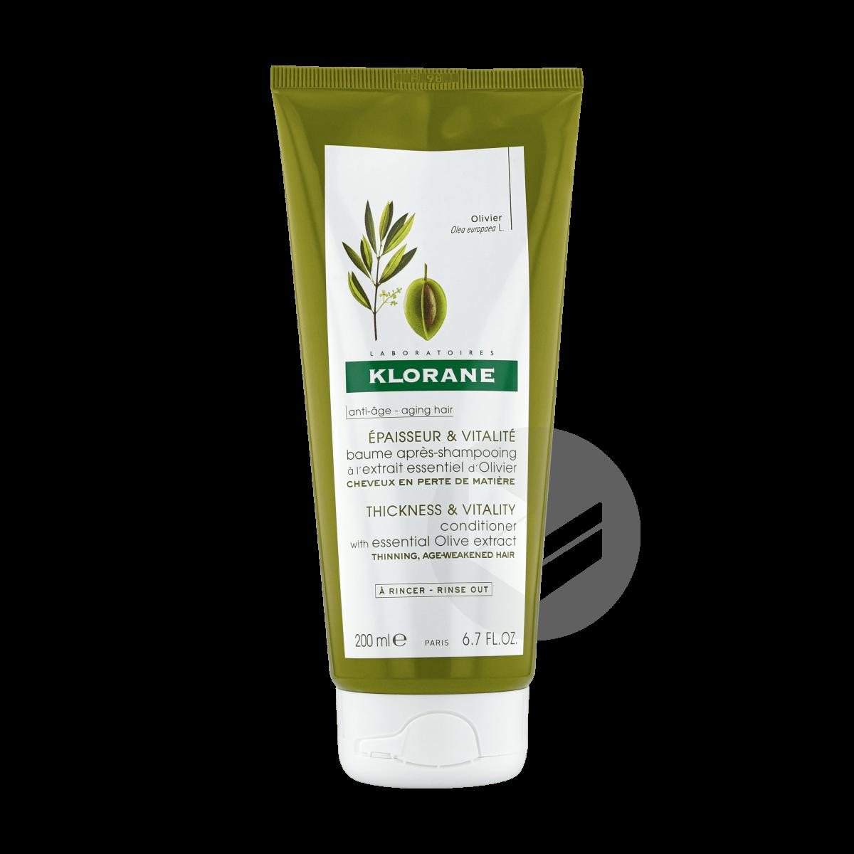 Baume après-shampoing Epaisseur et vitalité à l'extrait essentiel d'Olivier 200ml