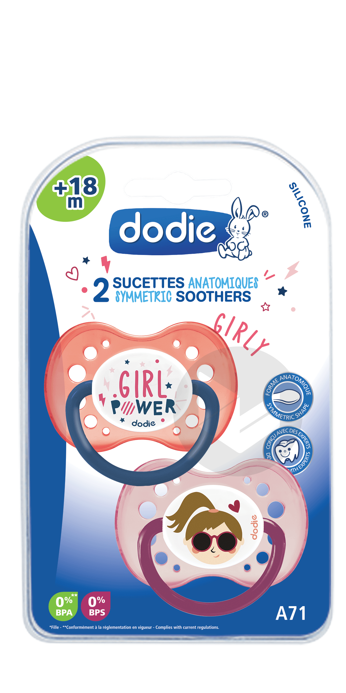 Sucette +18 mois DUO GIRLY A71