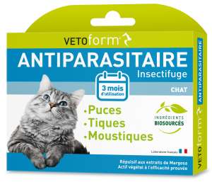 Vetoform S Ext Antiparasitaire Chat 6 Pipettes 1 Ml