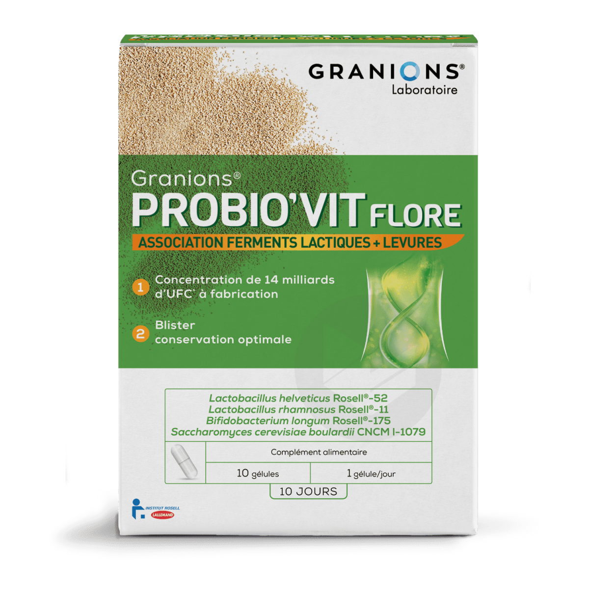 Granions Probio'Vit Flore 10 gélules