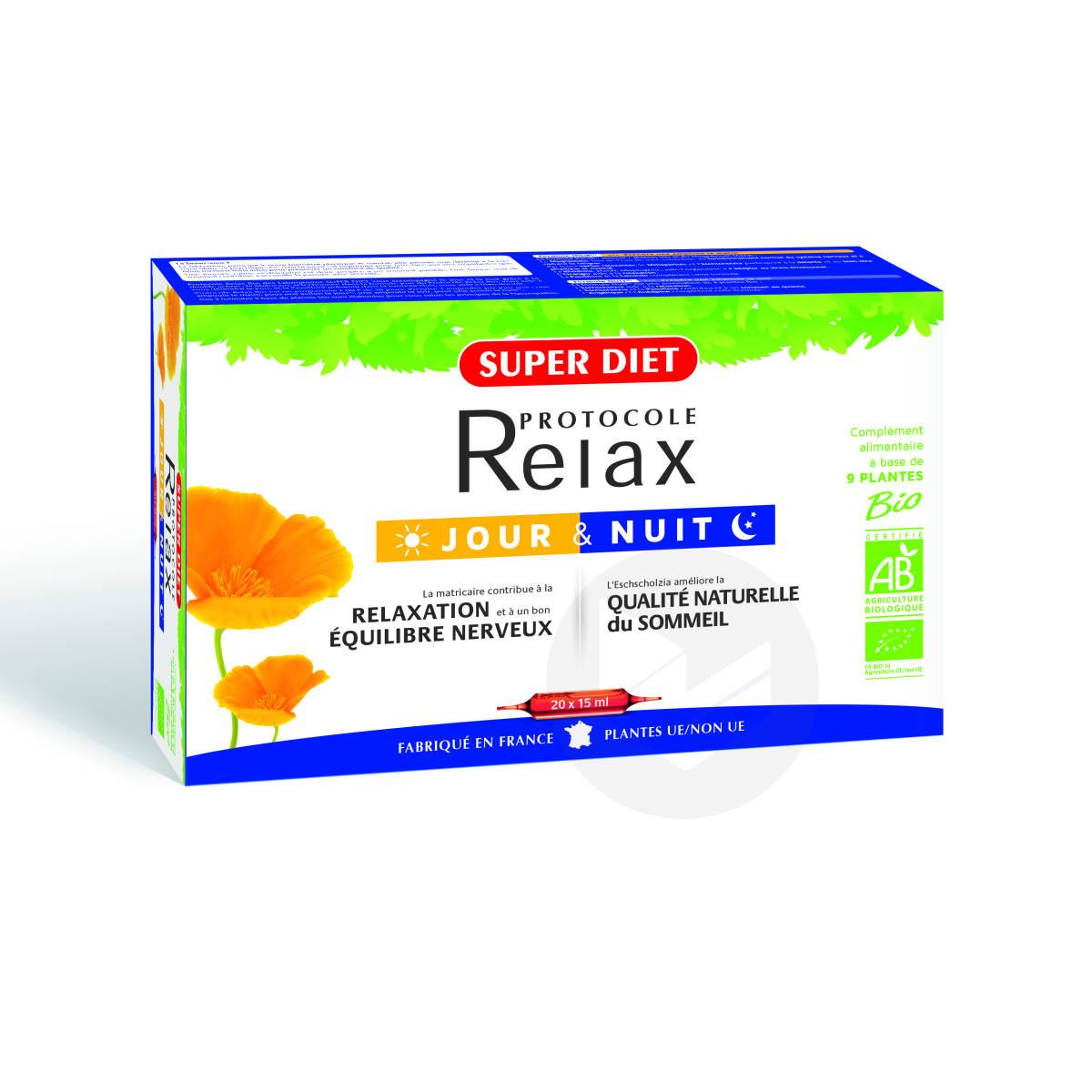 Protocole Relax Jour & Nuit Bio 20 Ampoules De 15ml