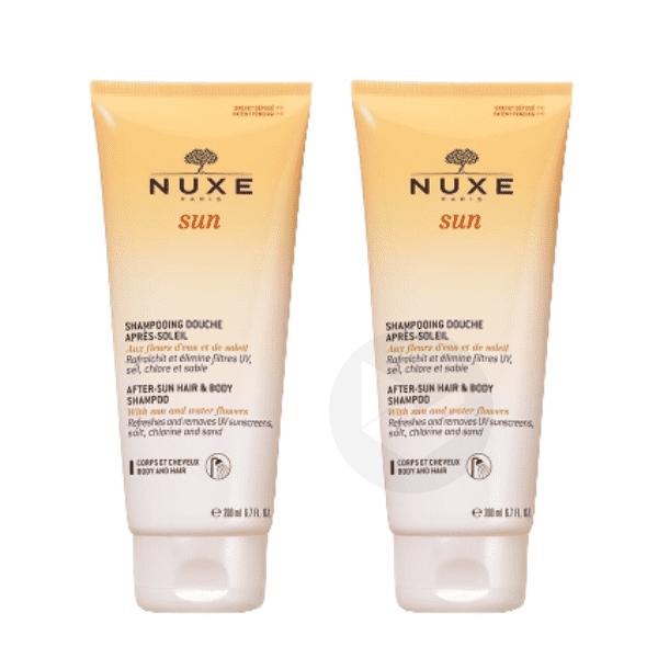 NUXE SUN Shampooing douche après-soleil corps cheveux 2T/200ml