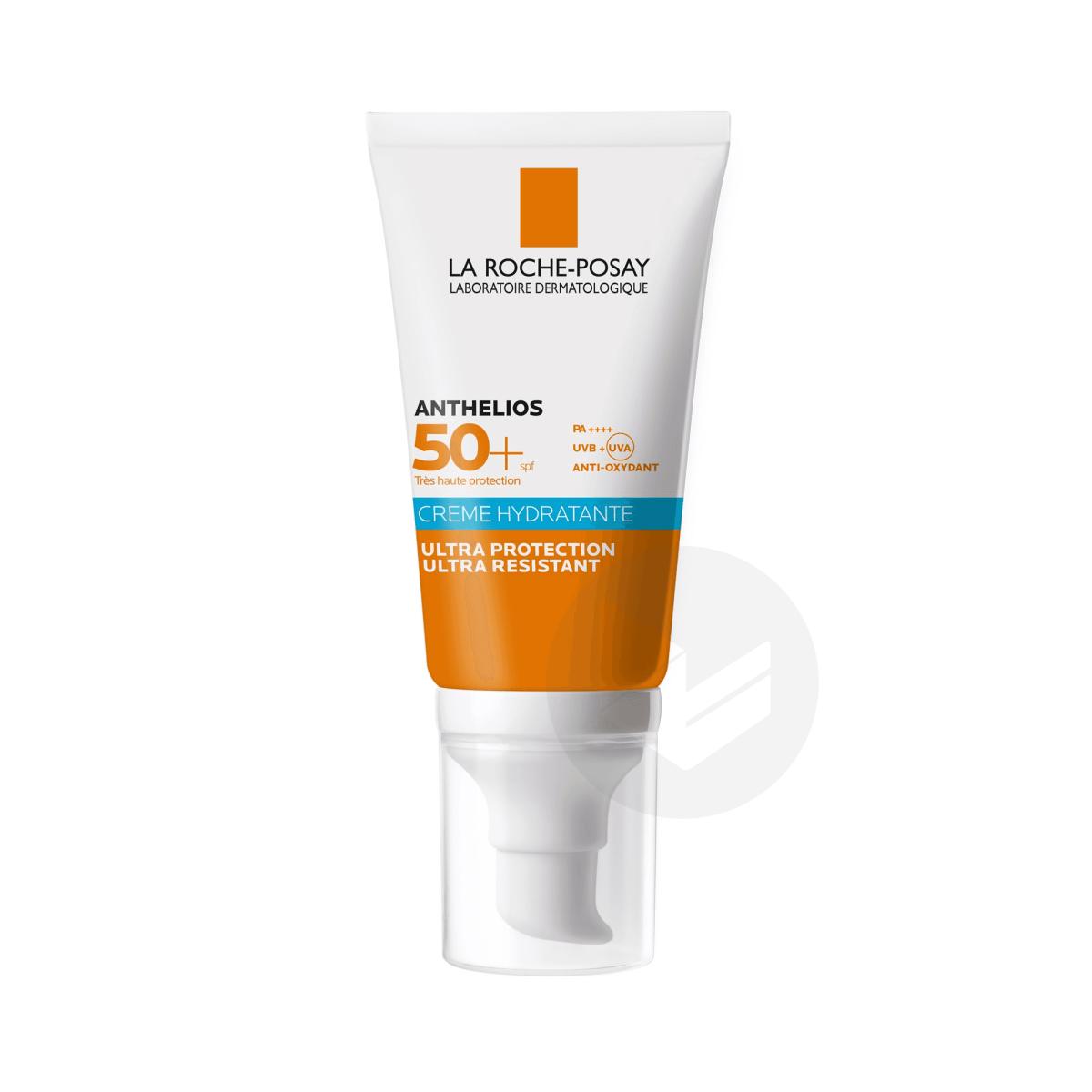 Anthelios Crème Solaire Hydratante Visage SPF50+ Avec Parfum 50ml