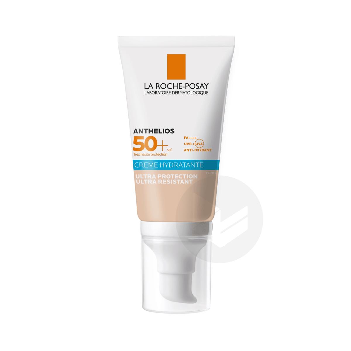 Anthelios Crème Solaire Hydratante Teintée Visage SPF50+ Avec Parfum 50ml