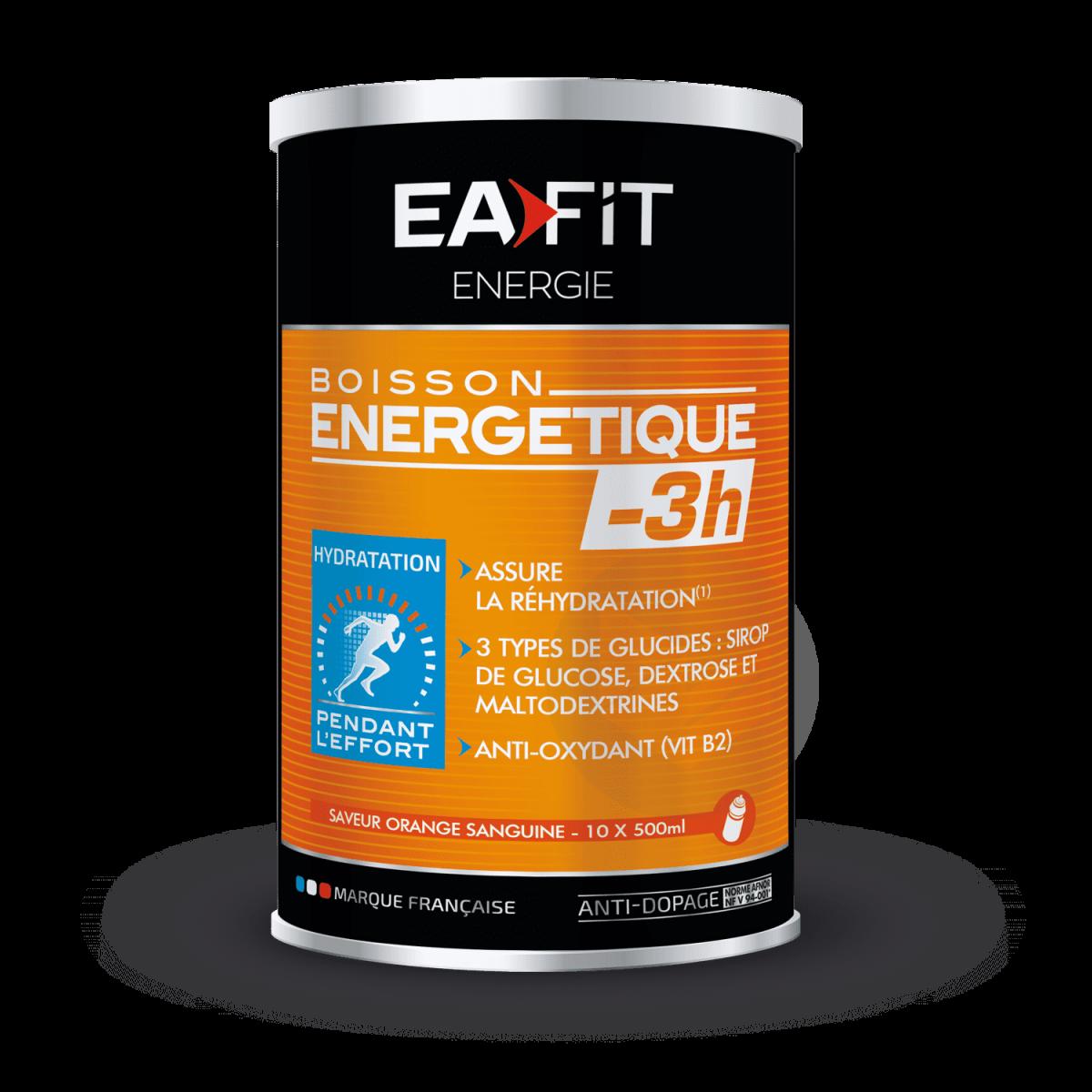 BOISSON ÉNERGÉTIQUE -3H Orange Sanguine 500 g