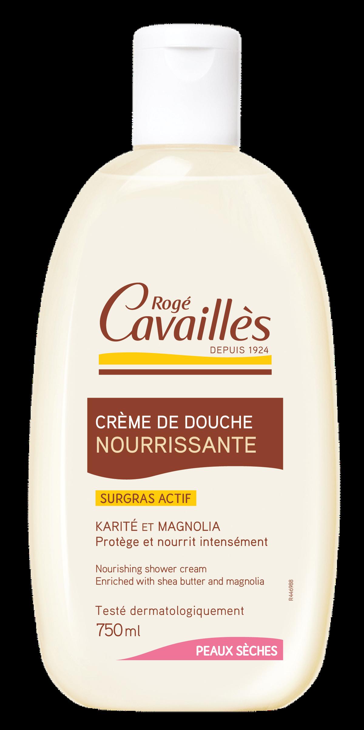 Crème de douche nourrissante beurre de karité & magnolia 750ml
