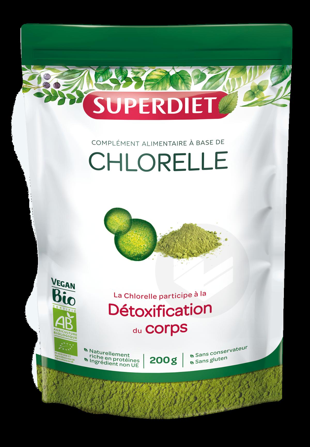 Chlorelle Bio Poudre 200 g