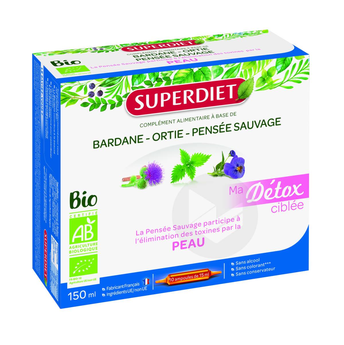 Ma Detox Ciblée Pensée Sauvage Peau Bio 10 Ampoules De 15ml
