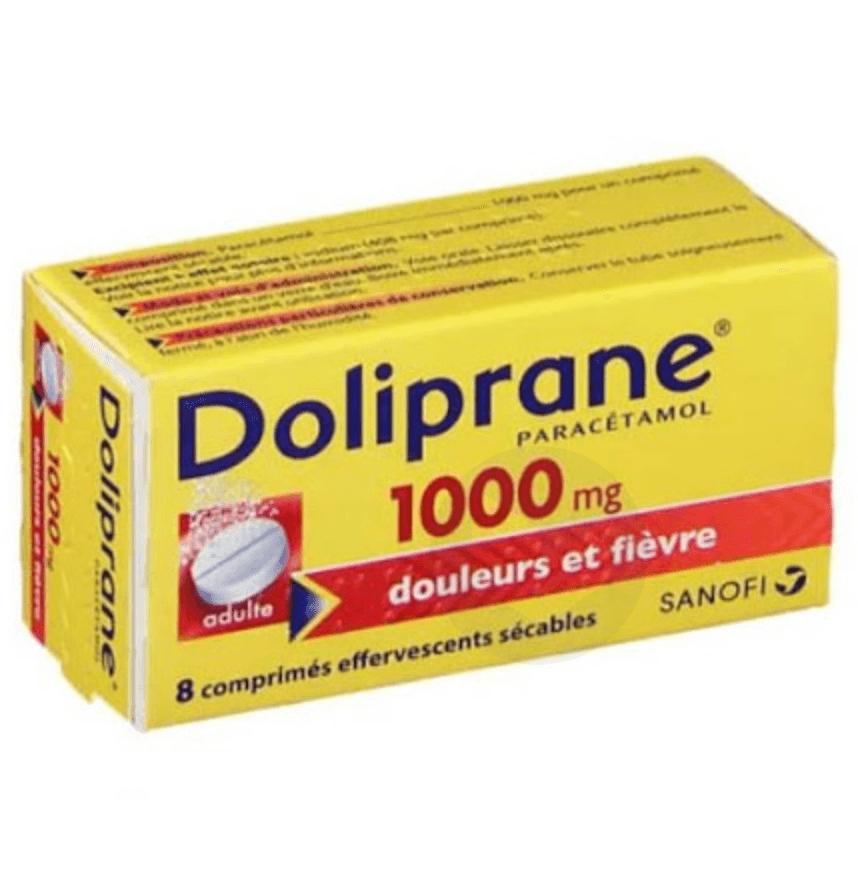DOLIPRANE 1000 mg Comprimé effervescent sécable (Tube de 8)