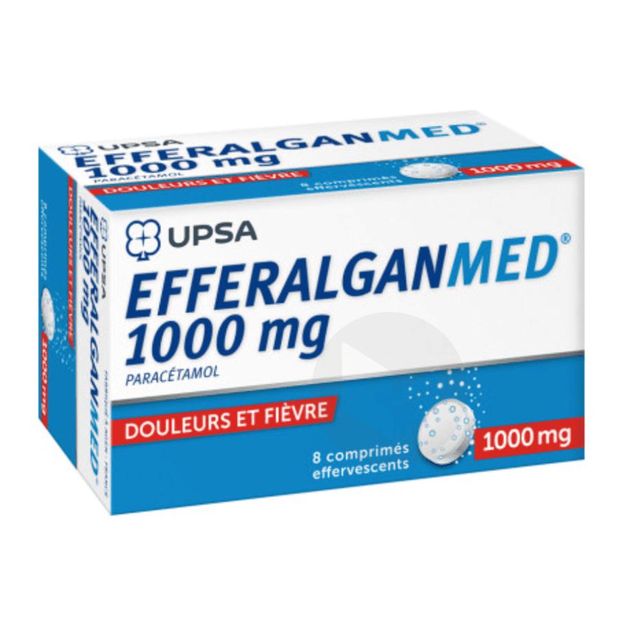 EFFERALGANMED 1 g Comprimé effervescent (Tube de 8)
