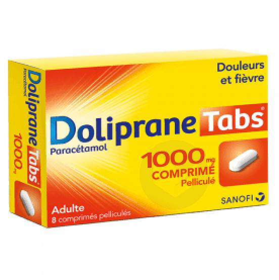 DOLIPRANETABS 1000 mg Comprimé pelliculé (Plaquette de 8)
