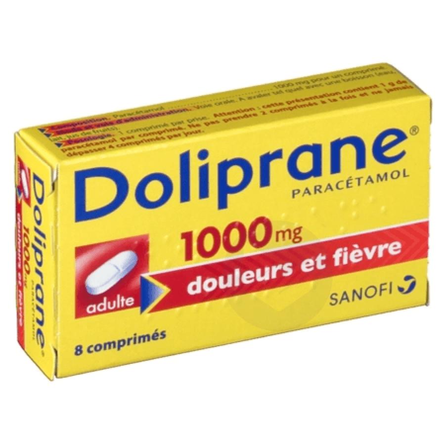 DOLIPRANE 1000 mg Comprimé (Plaquette de 8)